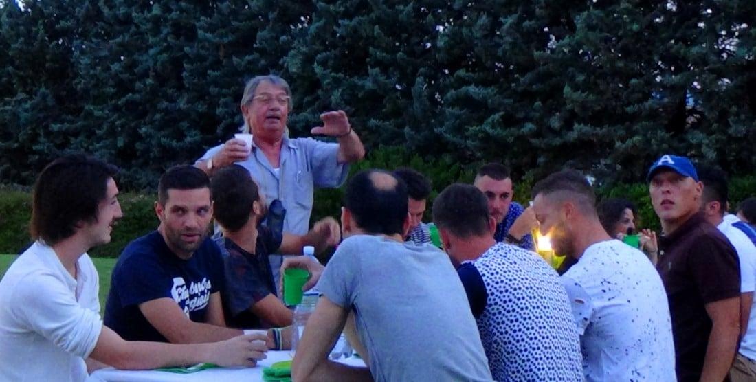 La cena di presentazione a casa del presidente Lacrimini. Primo atto della nuova stagione