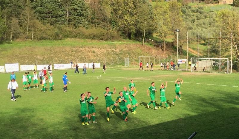 Baldaccio Bruni - Maliseti esultanza fine partita