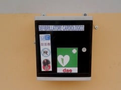defibrillatore installato al campo Procelli