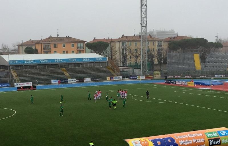 Rimini - Baldaccio, foto proteste dopo 2-0