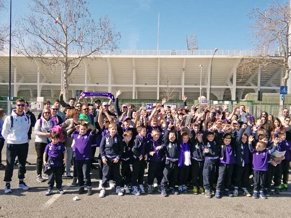 giornata viola scuola calcio foto gruppo
