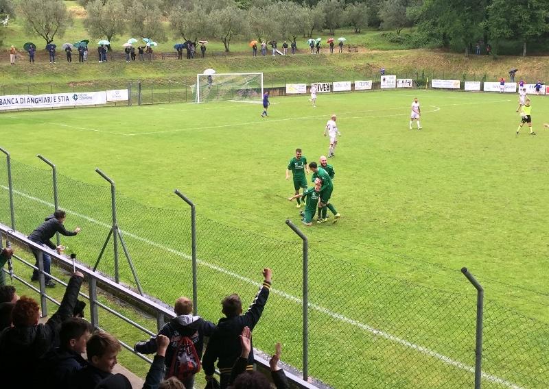 Baldaccio-Bucinese foto esultanza Bindi gol 2-1