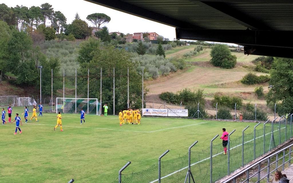 Baldaccio Bruni - Antella foto esultanza 1-0