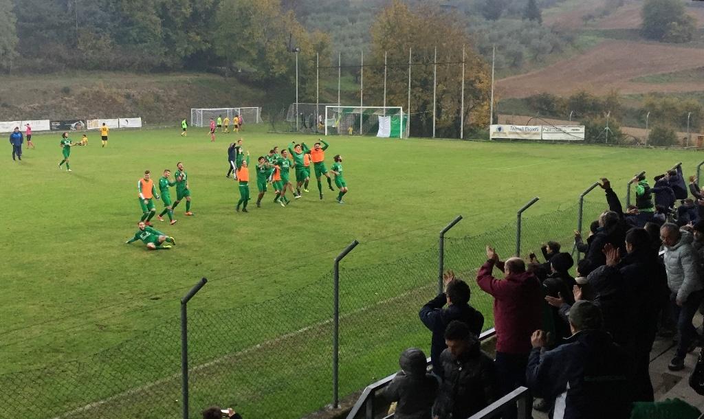 Baldaccio - Signa 1-0, foto esultanza finale