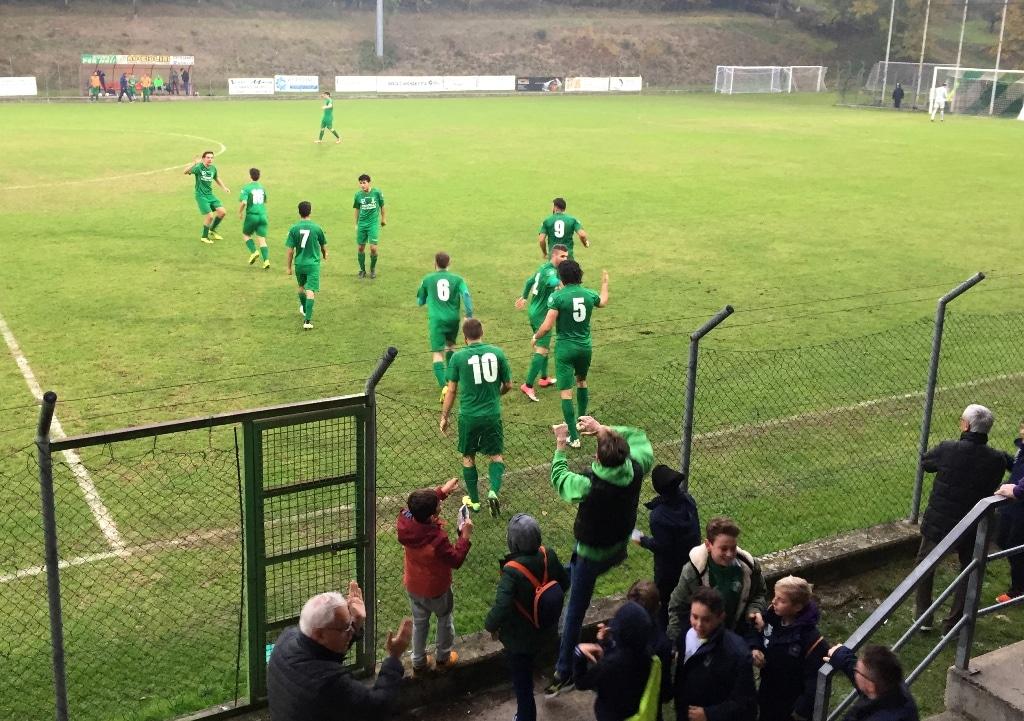 Baldaccio - Signa 1-0, foto esultanza gol Terzi