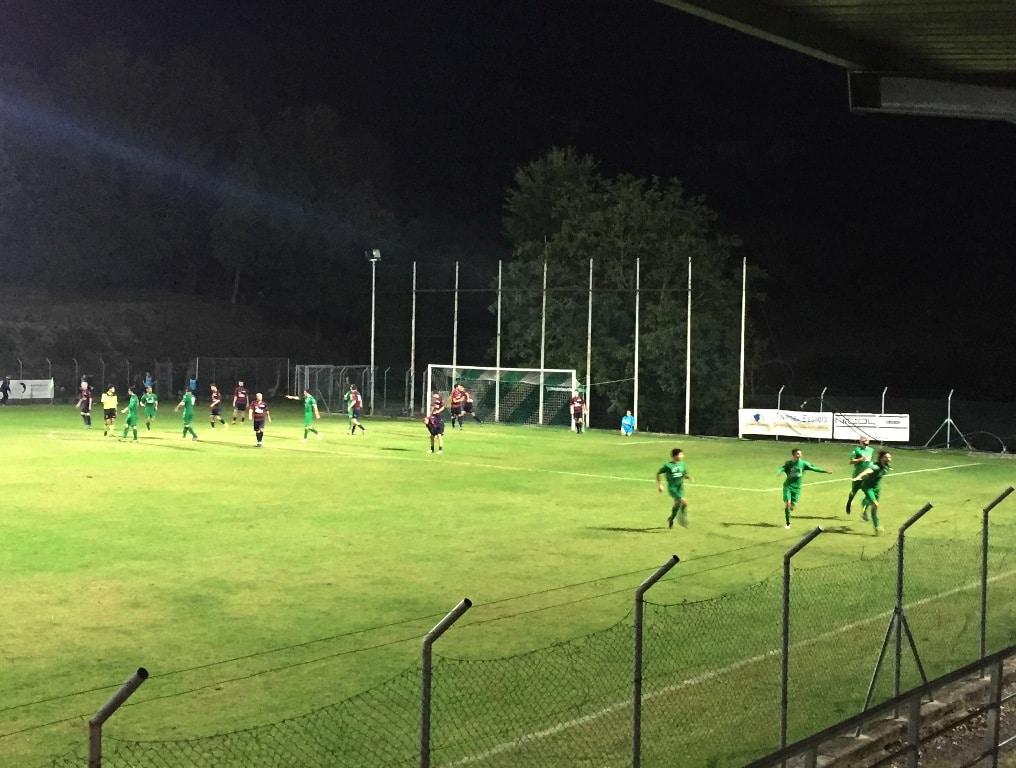 Esultanza Poponcini gol momentaneo 2-1