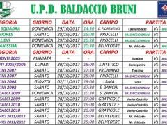 impegni fine ottobre scuola calcio Baldaccio Bruni