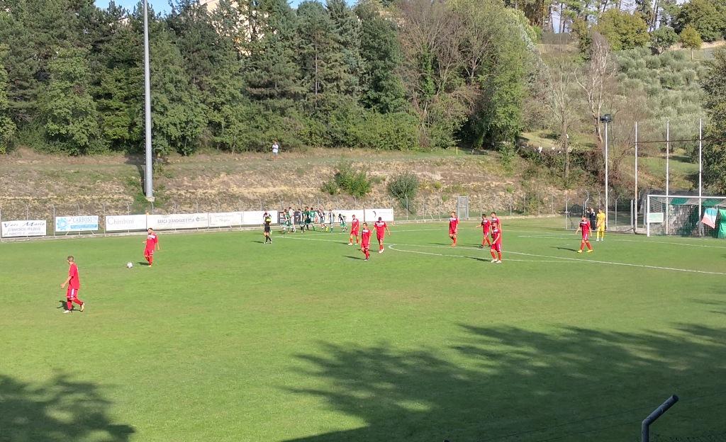 Baldaccio-Colligiana foto 3, esultanza gol biancoverde