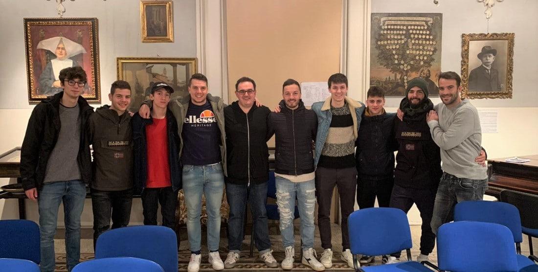 Giocatori della Baldaccio in visita a Casa Thevenin